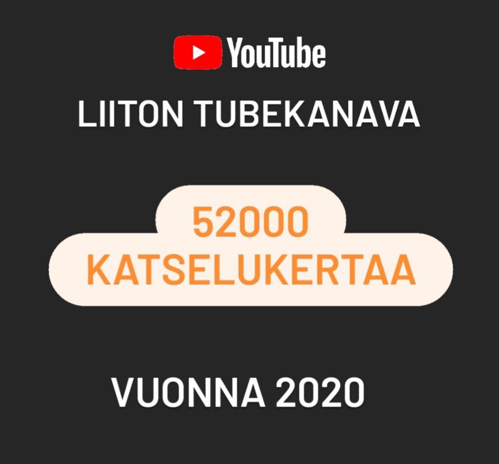 Vuonna 2020 liiton Youtube-kanavalla oli 52000 katselukertaa.